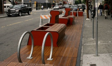 Walklet components installed at 22nd & Bartlett